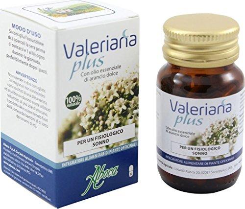 integratore alimentare valeriana plus con olio essenziale arancio dolce 30 opercoli