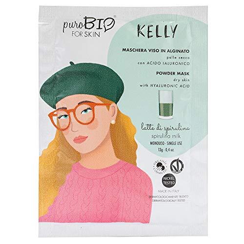 Purobio Kelly Maschera Viso Peel Off Per Pelli Secche, 09 Latte Di Spirulina - 10 Ml