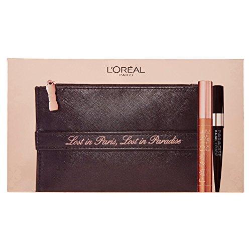 L'Oréal Paris Edizione Limitata Lost in Paradise Pochette Idea Regalo con Mascara Paradise e Matita Kajal Nera