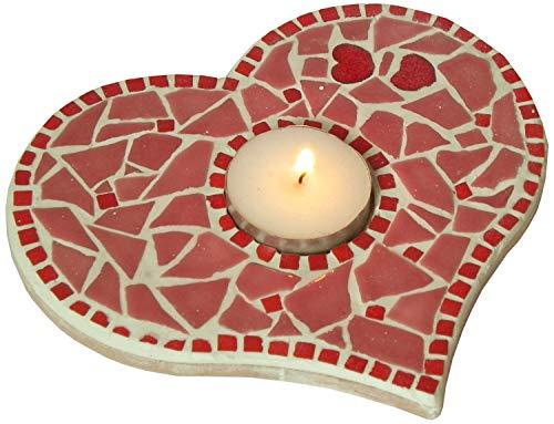 ALEA Mosaic Kit Fai-da-Te Decorazione Mosaico portacandele Rosso