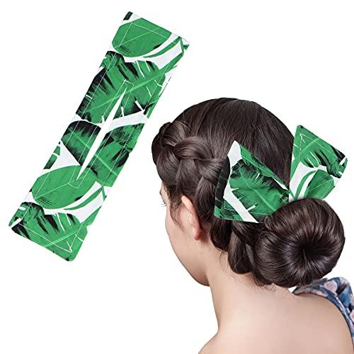 LOVVIY Deft Bun For Hair, Fascia per Capelli Pigri con Stampa Deft Bun, Strumento per Arricciare la Moda con Clip Magica in Stoffa Colorata, Adatto per Feste, Vita Quotidiana, Spiaggia (verde)