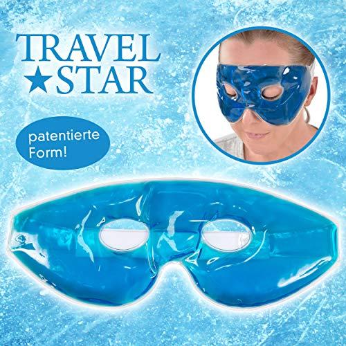 Travel Star TS USB-C 1000per Gel Occhi/Relax/Spa a Maschera, da Freddo/Caldo Terapia per Insonnia, Poliestere, Blu, 23x 8x 2cm