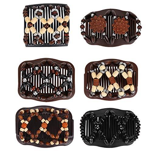 Ulikey 6 Pezzi Magic Hair Comb, Fermacapelli da Donna Magico Elastico, Stretchy Capelli Gioielli per Donne per Diversi Stili di Capelli