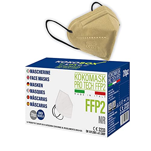 HOME KOKO LOOK 20 Mascherine FFP2 Certificate Colorate 100% Made in Italy Mascherine FFP2 Colorate CE2233 UNI EN 149:2001+A1:2009 Mascherina con 5 Strati 98% Filtraggio Confezionate Singolarmente