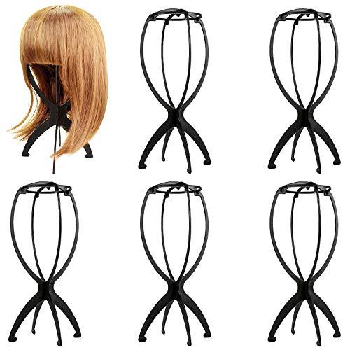 Czemo 6 pezzi Porta Parrucca Supporto Parrucca di Plastica Stabile Durevole Parrucca di Capelli Cappello Basamento Display