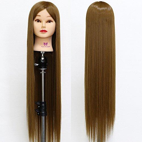 Testa Studio, Neverland Beauty 30 pollici 100% fibra sintetica capelli parrucchiere cosmetologia formazione testa mannequin bambole testa con morsetto stand