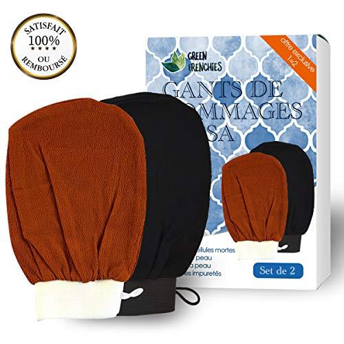 Guanto Scrub Corpo - Kessa | Guanto di Crini esfoliante per il corpo | Guanto da Scrub | Hammam | Set 2 Guanti