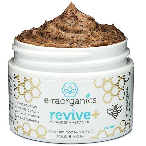 Maschera viso e scrub 2 in 1 da 60ml. Esfoliante viso naturale con miele di Manuka e noce per pelle opaca o secca, rughe, imperfezioni, acne e altro. Esfoliante, idratante e rinvigorente