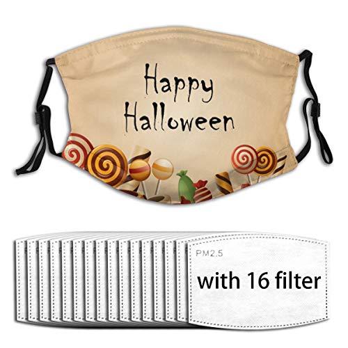 Happy Halloween - Cesto di zucchine con 6 filtri sostituibili a 5 strati di carbone attivo per copertura del viso Con 16 filtri. Etichettalia unica