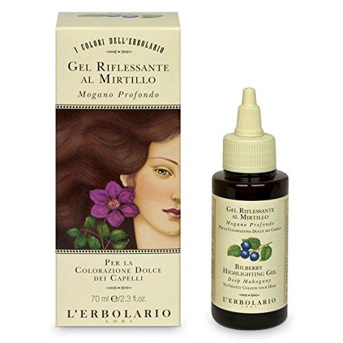 L'Erbolario - Gel per capelli con mirtillo rosso mogano, 70 ml