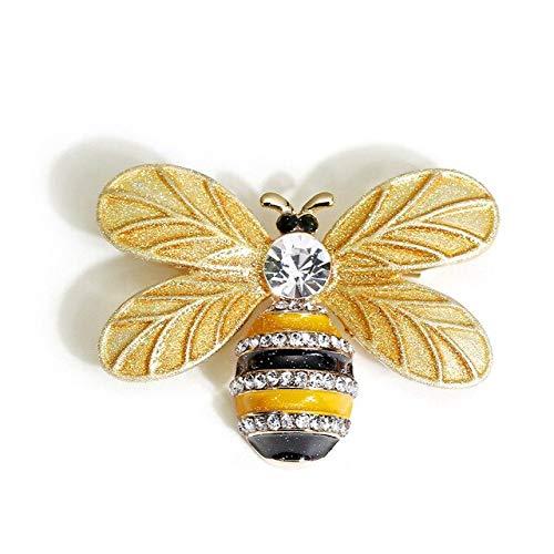 Bees Beetles Spilla Spille smaltate Spille di insetti in metallo per le donne Fascino con strass Sciarpa Clip maglione vestito gioielli