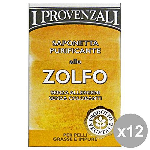 I PROVENZALI Set 12 Saponetta Zolfo 100 Gr. Saponi E Cosmetici
