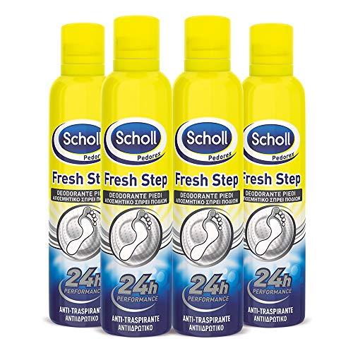 4 X Spray deodorante Piedi - 150 ml