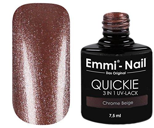 Emmi-Nail UV–Smalto in marrone, senza Schwitz brillantinato strato, non necessita di sotto e top coat, 7.5ML