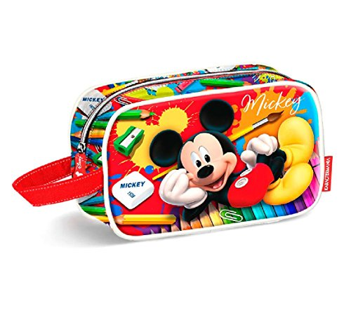 Karactermania Mickey Mouse Crayons-Teen Toiletry Bag Beauty Case, 21 cm, Rosso (Red)