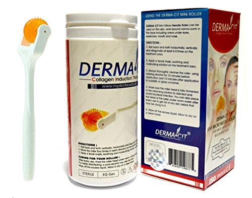 DERMA-CIT® Micro ago Eye Roller terapia della pelle Sistema di aghi in lega di titanio per occhio, naso e bocca (0,25 mm)