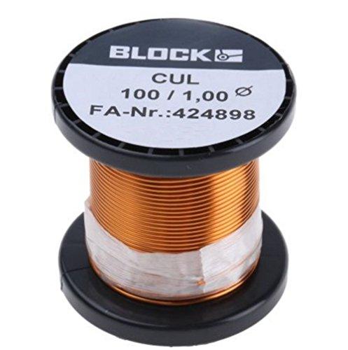 Block Filo di rame smaltato Diametro (con Isolante)=1 mm 1 Conf. 0.10 kg