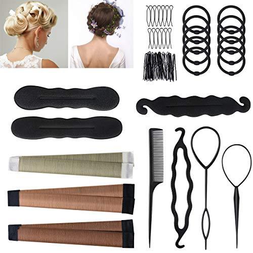 URAQT Accessori per Capelli Kit, Accessori Per Capelli Pins Capelli, Hair Styling Tool Clip, Mix Accessori Set Gioielli per Capelli Donne Ragazze per DIY
