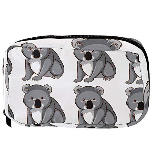 Sacchetti per cosmetici carino e divertente Australia Koala Pattern Handy Toiletry Travel Bag Oragniser Makeup Pouch per donne e ragazze