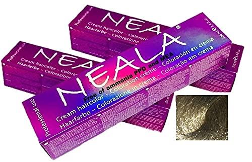 Pack 3 - Tintura professionale colorazione per capelli SENZA AMMONIACA, PPD o MEA - 9.13- BIONDO CHIARISSIMO CENERE DORATO - NEALA 3 x 100ml.