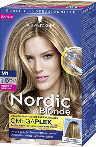 Schwarzkopf Nordic Blonde, Schiarente Intensivo dall'Olio con Omega Plex, Meches Ultra M1