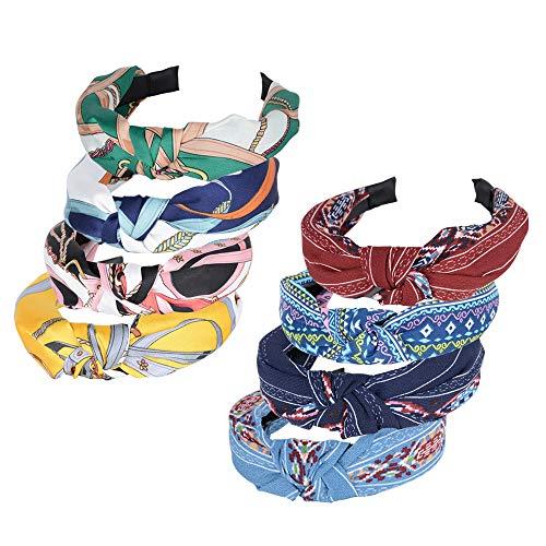Cerchietti per Capelli Donna 8 Pezzi Vintage Fasce Femminili Fascia Fermacapelli Turbante della Testa Accessori dei Capelli per Donna Ragazza 8 Colori Assortiti