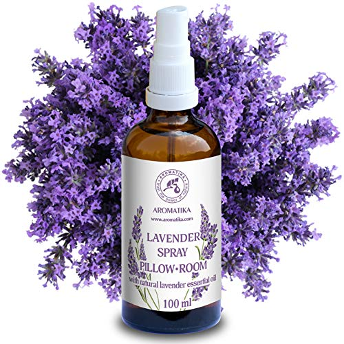 Spray Lavanda 100ml - 100% Pura di Olio Essenziale di Lavanda - Ottimo per Yoga - Spray per il Cuscino - Rilassamento - Sonno