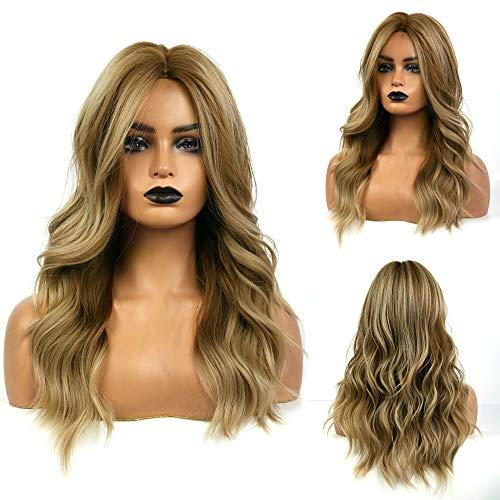 MISHAIR Parrucche Donna Marrone Parrucca lunga capelli lunghi mossi Cosplay Wigs Anime Ragazze Capelli castani 26 pollice