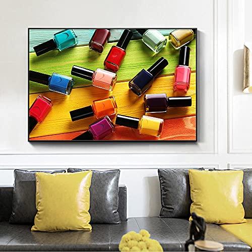 1 Pezzi Colorato Smalto Per Unghie Immagine di Arte Della Parete Per Soggiorno Negozio di Manicure HD Spray Su Tela Pittura A Olio Complementi Arredo Casa Poster-60x90 cm/senza cornice