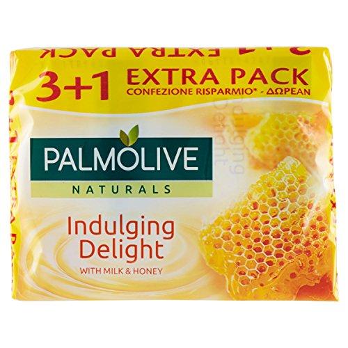 Palmolive - Sapone da Toilette, con Latte e Miele - 4 pezzi