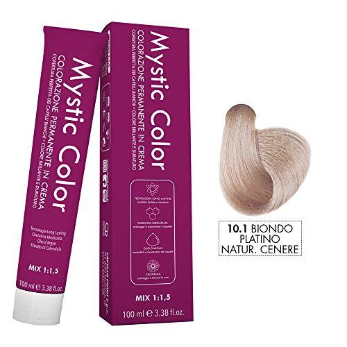 Mystic Color - Colore Biondo Platino Cenere 10.1 - Tinta per Capelli - Colorazione Professionale in Crema a Lunga Durata - Con Cheratina Idrolizzata, Olio di Argan e Calendula - 100 ml