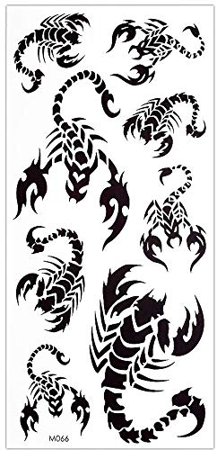 Tatuaggi a forma di scorpione su un foglio MTL1034/M066, colore: nero