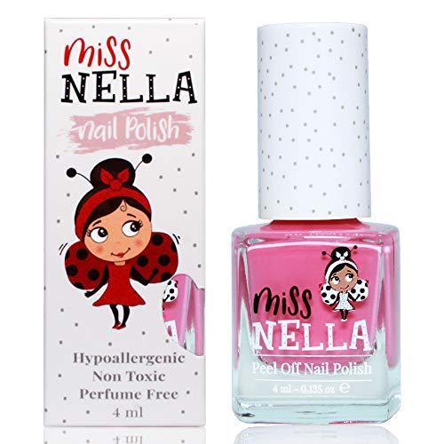 Miss Nella PINK A BOO- rosa Smalto speciale per bambini, con formula peel-off, a base d'acqua e senza odori