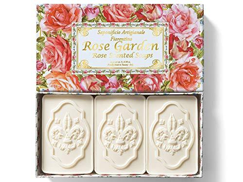 Saponificio Artigianale Fiorentino, Giardino di Rose, set di 3 saponette da 125 g