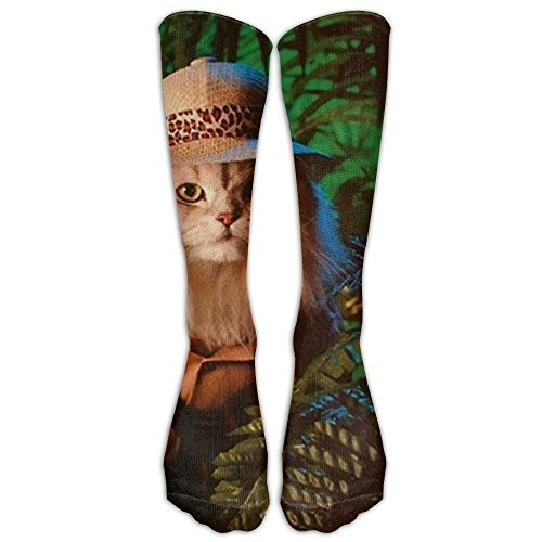 Yuanmeiju Psychedelic Peace Hippie Casual Unisex Sock Knee Long High Calzini Sport Athletic Crew Calzini (Long 50cm