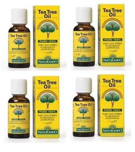 NATURANDO - TEA TREE OIL 4 CONFEZIONI DA 30 ML antibatterico, antimicotico, mucolitico, anti-infiammatorio - [KIT CON SAPONETTA NATURALE QUIZEN IN OMAGGIO]