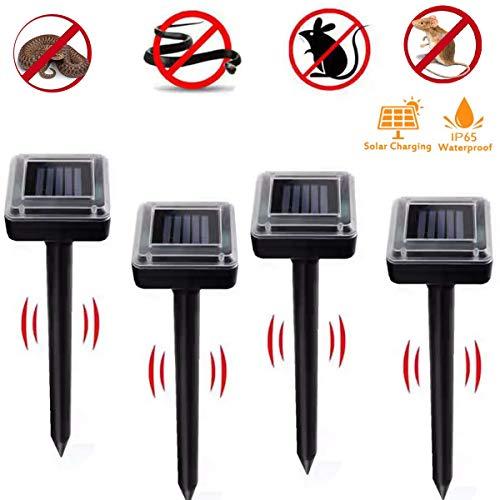 4 Repellenti per Talpe a Energia Solare,Repeller Solare,Solar Mole Repelle,Repellente per Talpe di Energia Solare,Solar Mole Repeller,con Grado di Protezione IP56,Impermeabile, Antitalpe,Anti Arvicole