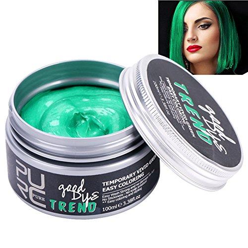 Capelli della cera colorante per capelli, colorante per capelli, crema idratante sana (verde)