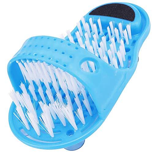 FANDE Bagno Foot Cleaner, Spazzola Lavapiedi, Piede Suola Massaggio Strumento, Spazzola Detergente per Piedi, Pantofola Massaggiatore per Piedi da Bagno