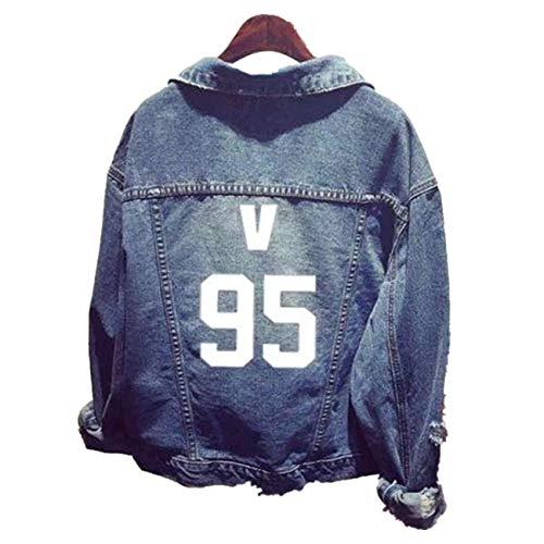SERAPHY WOOKIT Unisex Felpa con Cappuccio Giacca di Jeans Suga Jin Jimin Jung Kook J-Hope Rap-Mostro V 95v