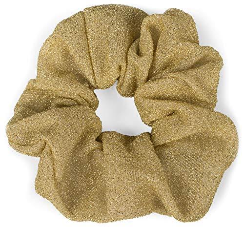 styleBREAKER elastico da donna per capelli, XXL in stile retro, elastico, Scrunchie, fascia per capelli 04027001, colore:Oro