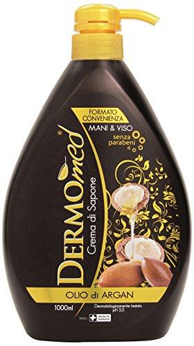Dermomed Crema di Sapone Olio Di Argan, 1000 ml