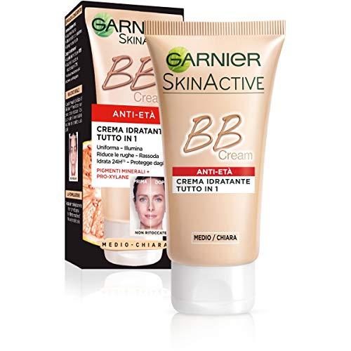 Garnier BB Cream Anti-Età Crema Viso di Pelle 5 in 1, 50 ml, Medio-Chiaro