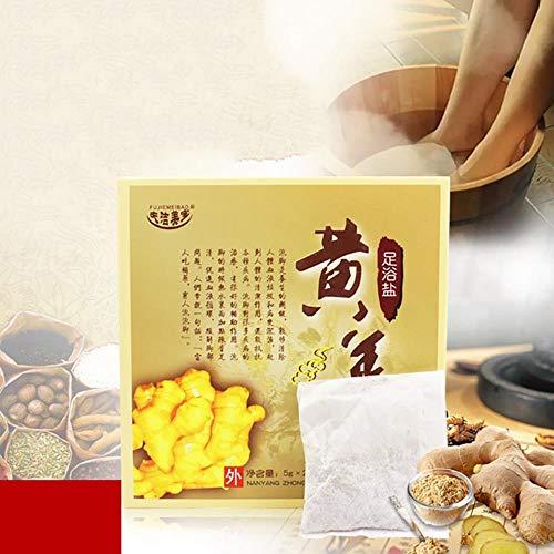 Pediluvio allo zenzero Polvere Corpo Cura della pelle Pediluvio cinese Spa Bolla Pulizia dei piedi Estratto naturale di zenzero vegetale