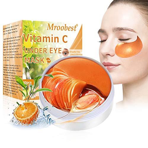 Maschera per gli occhi, Eye Mask, Eye Patch, Maschera d'occhio del collagene, Vitamine C Maschera Occhi, Idratante, Anti-rughe ed anti-età,Contorno Occhi Occhiaie,Ridurre Borse, Occhiaie e Puffiness