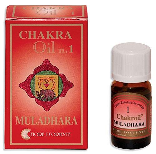 Fiore D 'oriente 1st Chakra Muladhara Oli Essenziali, 10ml, colore: rosso