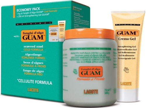 Guam Fango - Formula rinfrescante per pelli sensibili: 1 kg di algenfango + 250 ml gel rassodante per una pelle sana, bella e soda