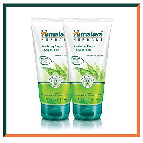 HIMALAYA HERBALS Purifying Neem Face Wash Gel 150g | Pulisce profondamente i pori e l'acne | Detergente viso a base di erbe per il controllo dell'olio (2-Pack Purifying Neem Face Wash Gel)