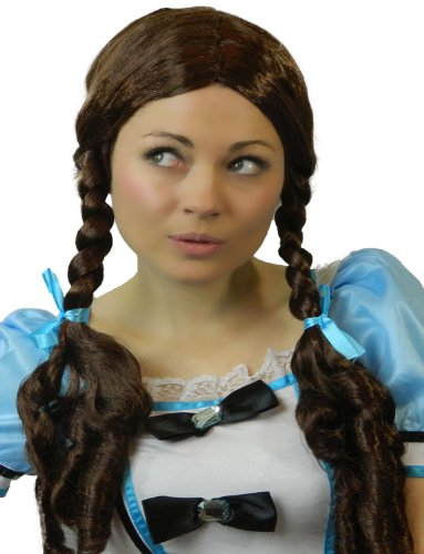 Yummy Bee - Parrucca Con Trecce Marrone - Parrucca Dorothy Mago di Oz - Parrucca Treccine Lunga