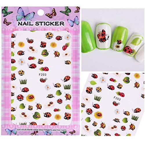 1 foglio di adesivi 3D per unghie con fiore in rilievo, decalcomanie adesive per manicure e nail art, SAF199